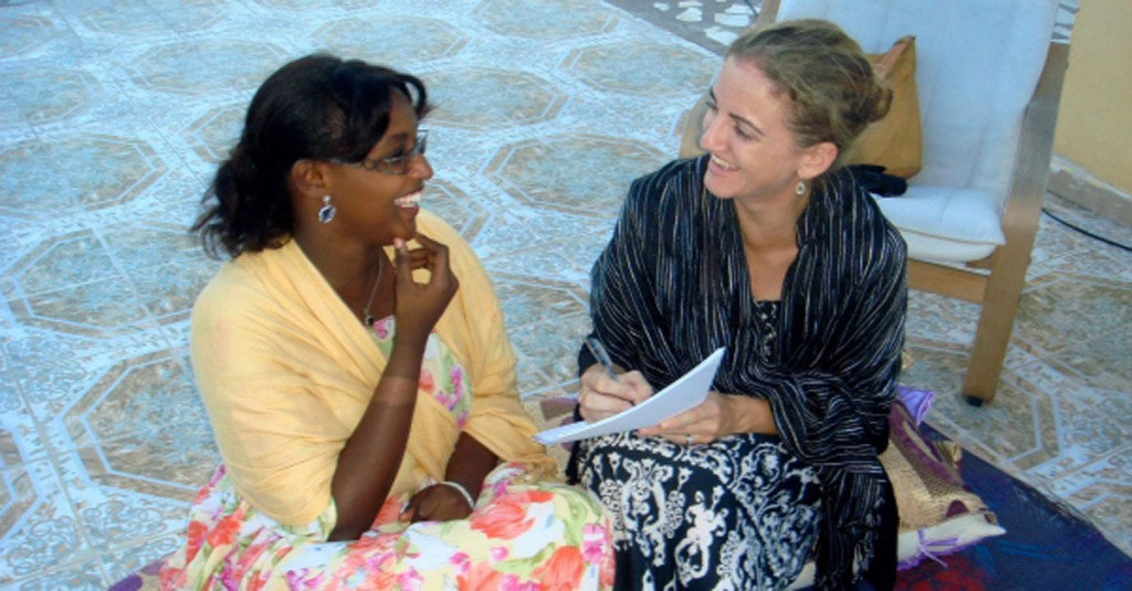 Two Women Practicing Somali Language